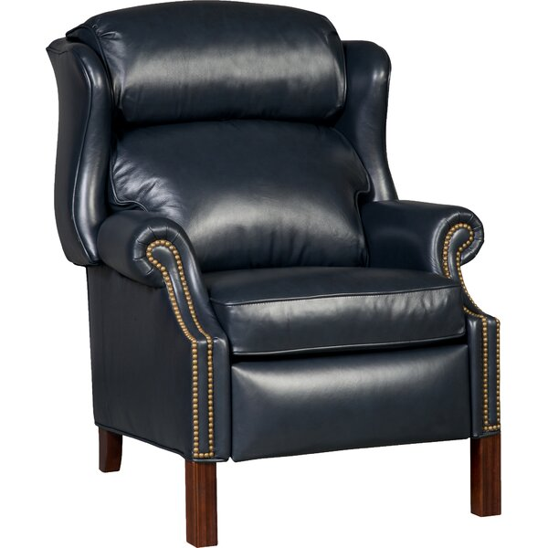 Chippendale Leather Manual Recliner by Bradington-Young