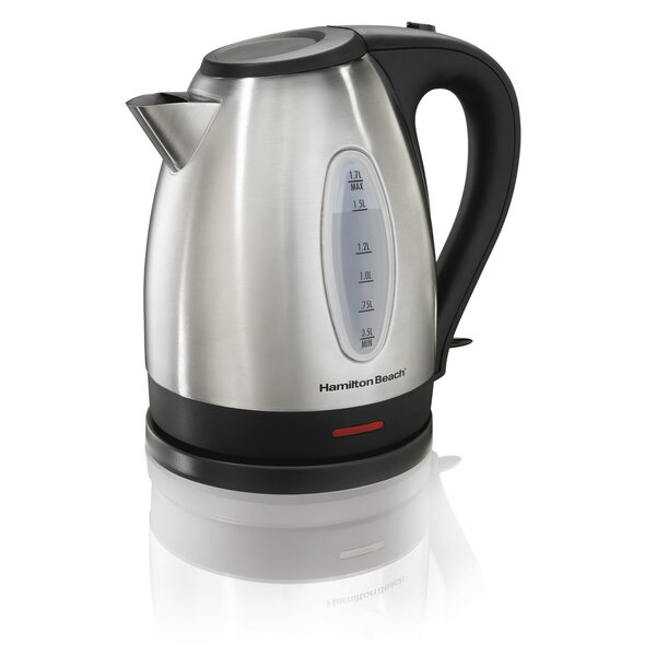 1 8 Qt Stainless Steel Electric Kettle By Hamilton Beach.