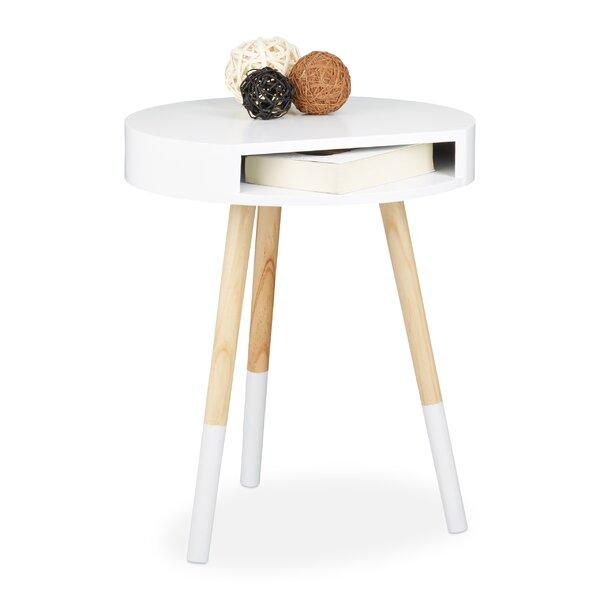relaxdays beistelltisch mit stauraum. Black Bedroom Furniture Sets. Home Design Ideas