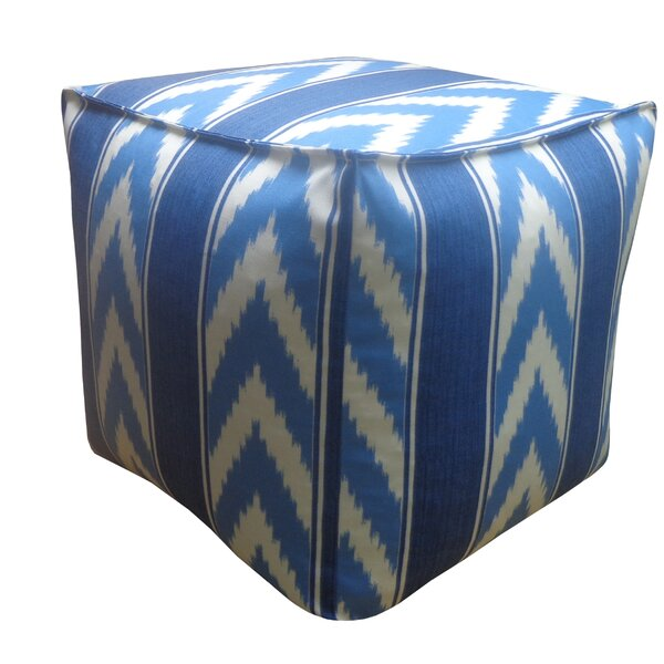Ikat Stripe Outdoor Pouf by Jiti