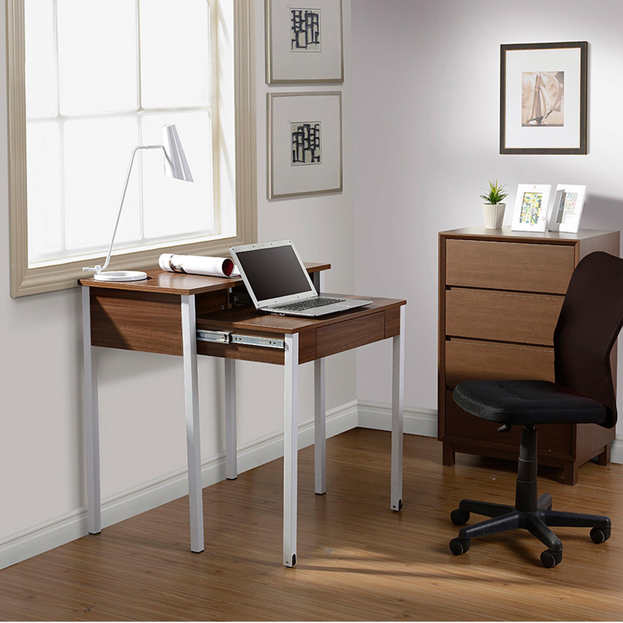 Ebern Designs Oli Compact Retractable Desk & Reviews   Wayfair