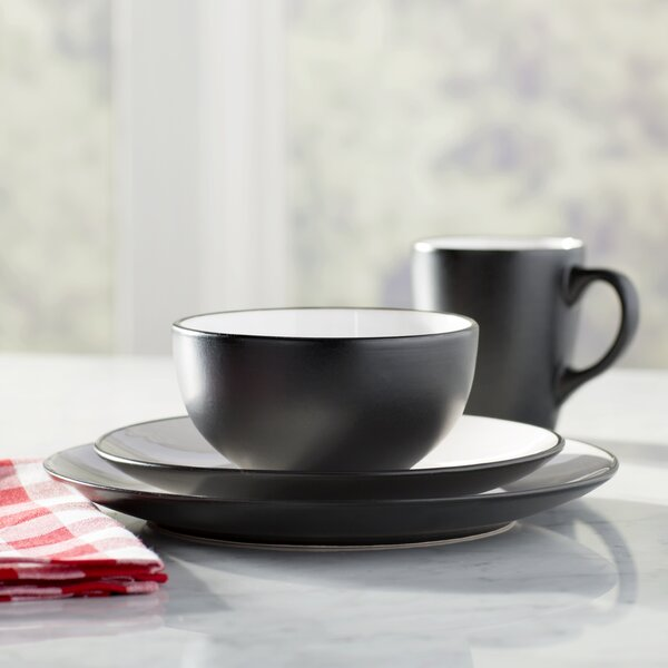 Wayfair Basics 16 Piece Two-Toned Stoneware Dinnerware Set, Service for 4 by Wayfair Basics™