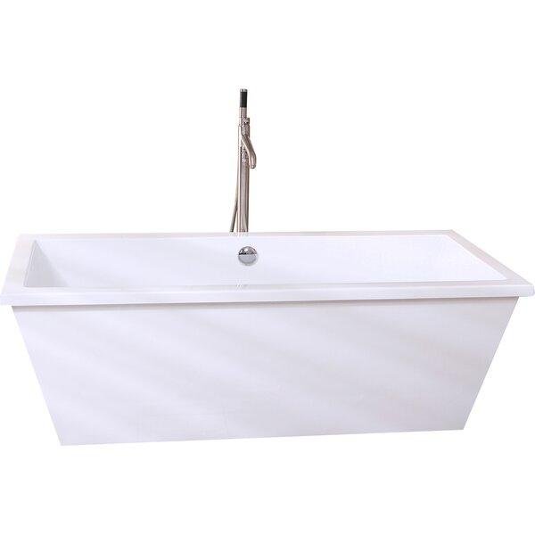 Aqua Eden 66 x 33 Freestanding Soaking Bathtub by Kingston Brass