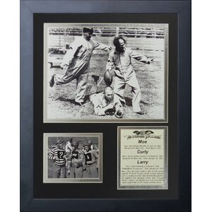 The Three Stooges Football Framed Memorabilia