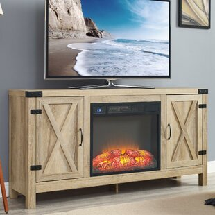 Affordable Richburg Blonde TV Stand for TVs up to 75 with Fireplace ByLoon Peak
