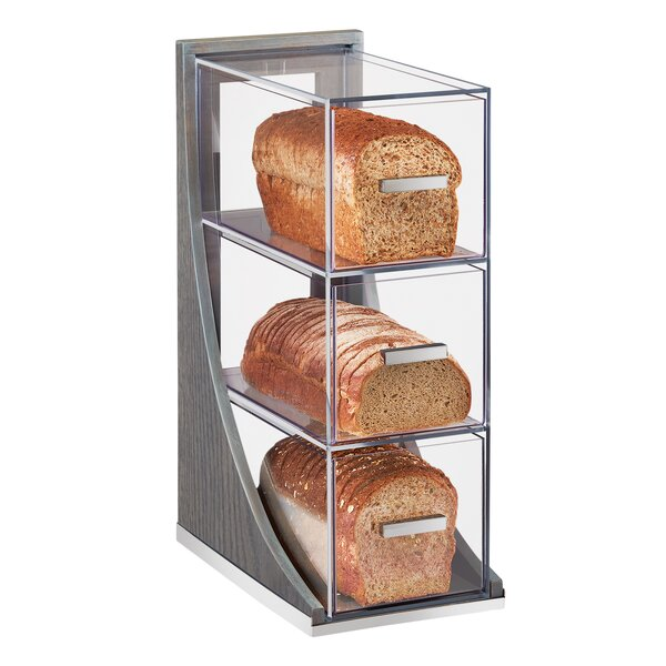Lesko 3 Tier Ashwood Bread Box by Latitude Run