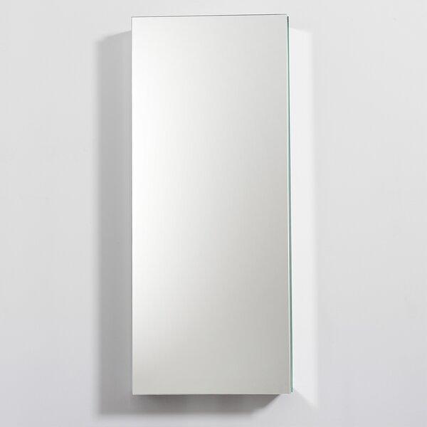 Senza Recessed Frameless Medicine Cabinet with 4 Adjustable Shelves