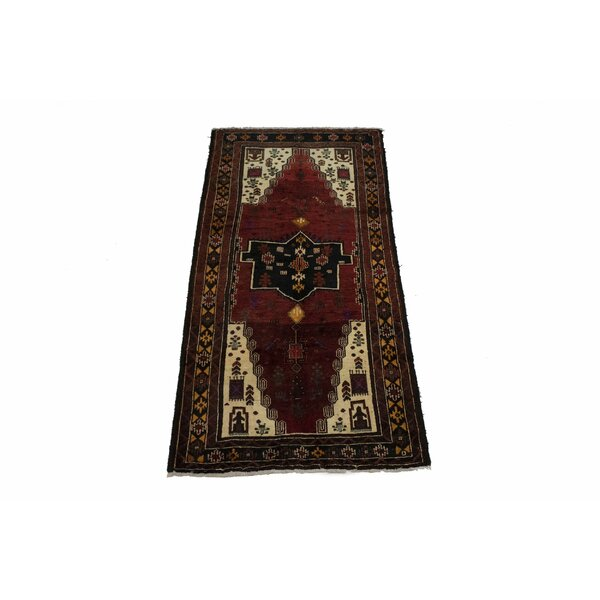 Sugden Oriental Hand-Knotted Wool Red/Yellow Area Rug