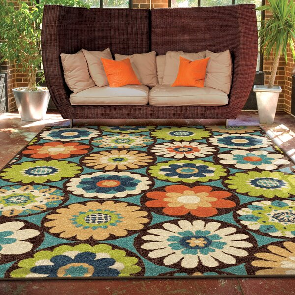 Ginther Green Indoor/Outdoor Area Rug by Andover M