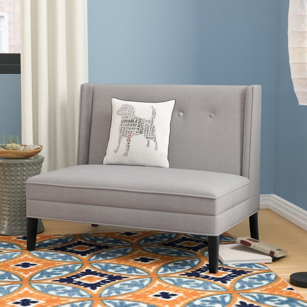 Judah Button Tufted High Back Settee by Langley Street