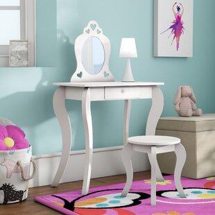 Cool Gothenburg Kids Vanity Set With Mirror Squirreltailoven Fun Painted Chair Ideas Images Squirreltailovenorg
