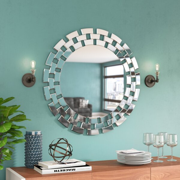 Round Glass Wall Mirror by Brayden Studio