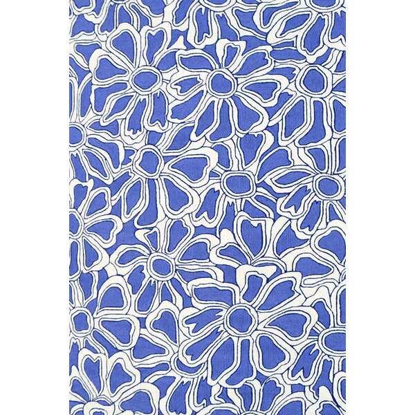 Handmade Blue Indoor/Outdoor Area Rug by Park Avenue Rugs