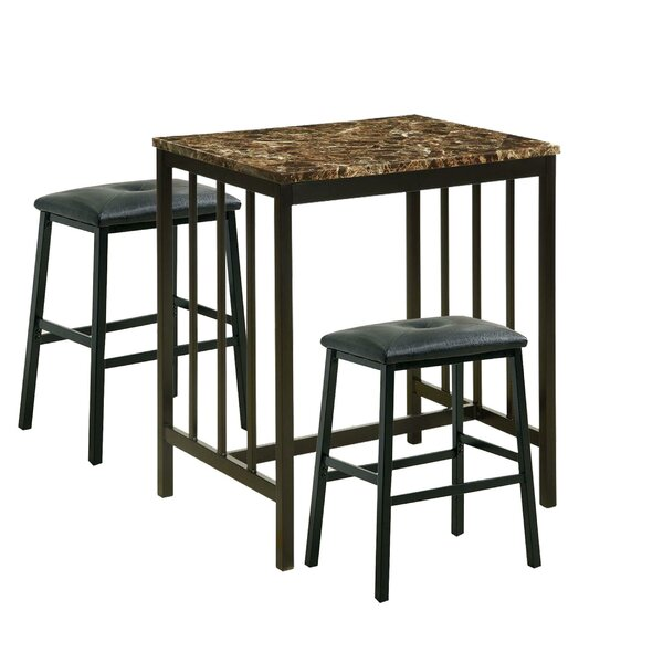 Parton 3 Piece Pub Table Set (Set of 3) by Winston Porter