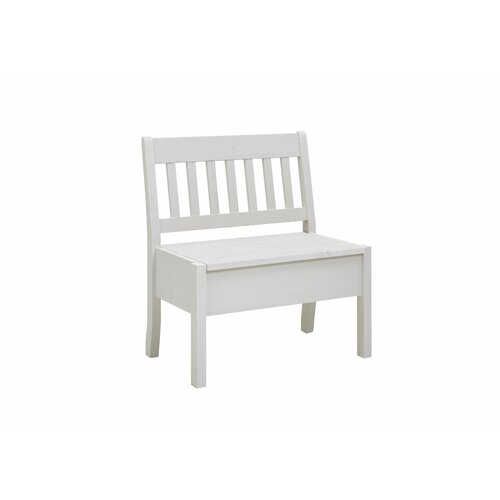 Xan Wood Storage Bench August Grove Colour: White, Size: 93cm H x 83cm W x 53cm D
