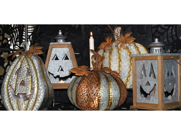 Galvanized Jack Trapezoid Lantern by The Holiday Aisle