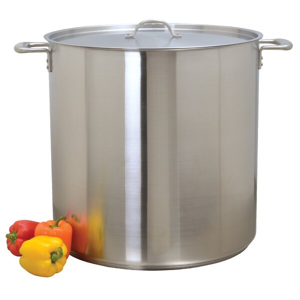 Stock Pot with Lid by Update International