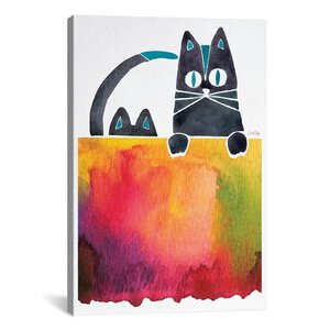 Cats Artprint by Cat Coquillette Painting Print on Wrapped Canvas by Brayden Studio