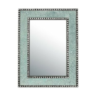 DecorShore Crackled Glass Jewel Tone Mosaic Wall Mirror