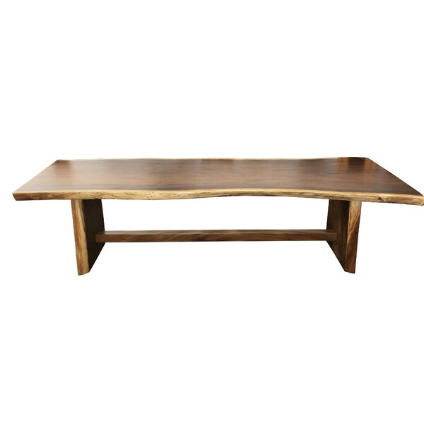Eder Acacia Solid Wood Dining Table by Loon Peak Loon Peak