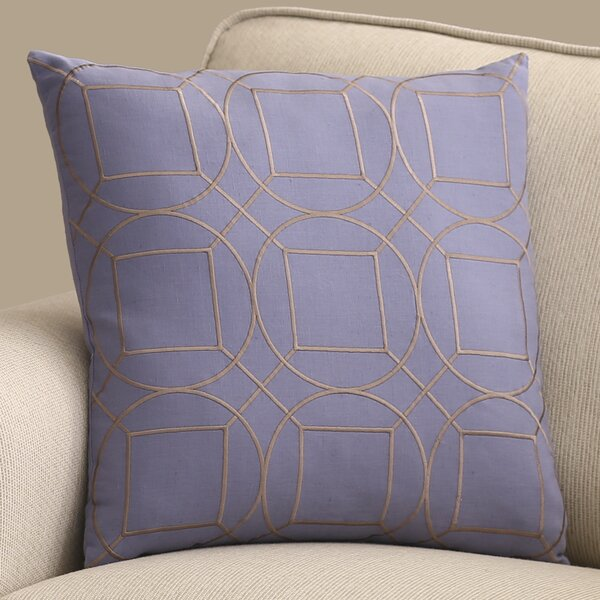 Lambda Square Linen Throw Pillow by Mercury Row