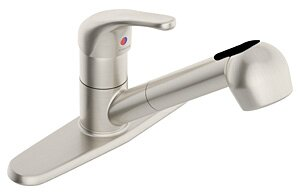 Unity Pull Out Touch Single Handle Kitchen Faucet by Symmons