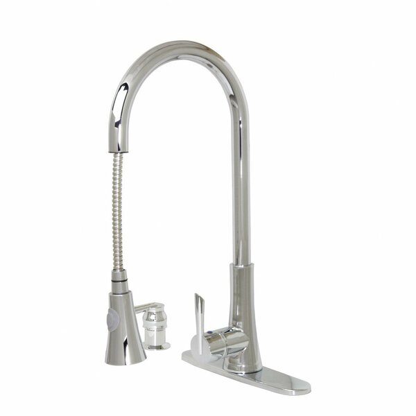 Modern Kitchen Pull-Out Faucet With Soap Dispenser by Dyconn Faucet