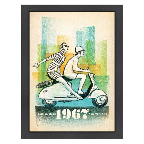 1967 Scooter Girls Framed Graphic Art by Americanflat