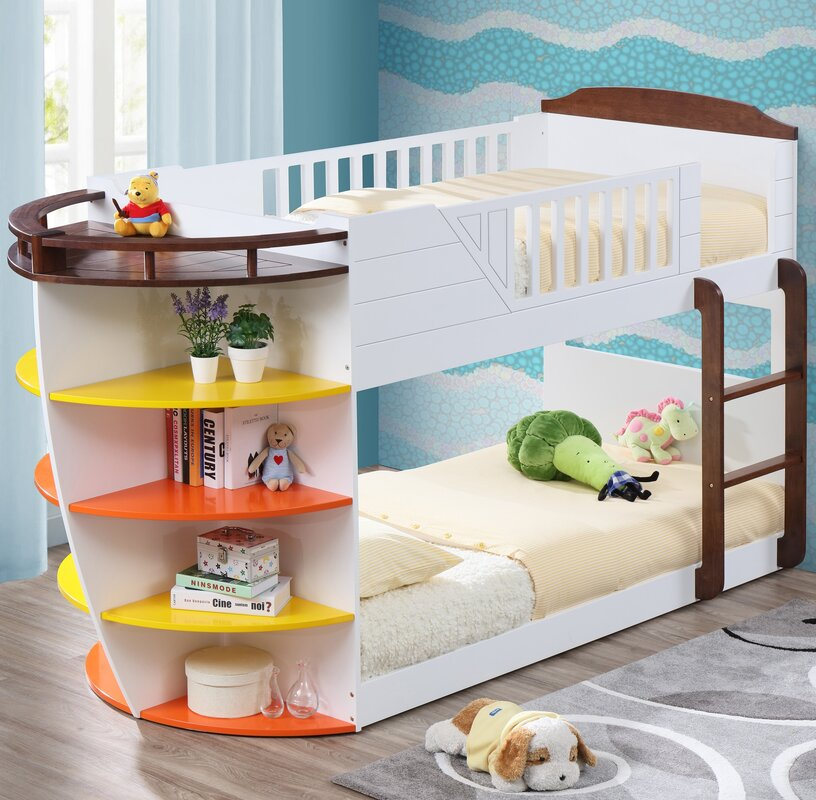 Acme furniture neptune twin over twin bunk bed with for Rooms to go kids sale