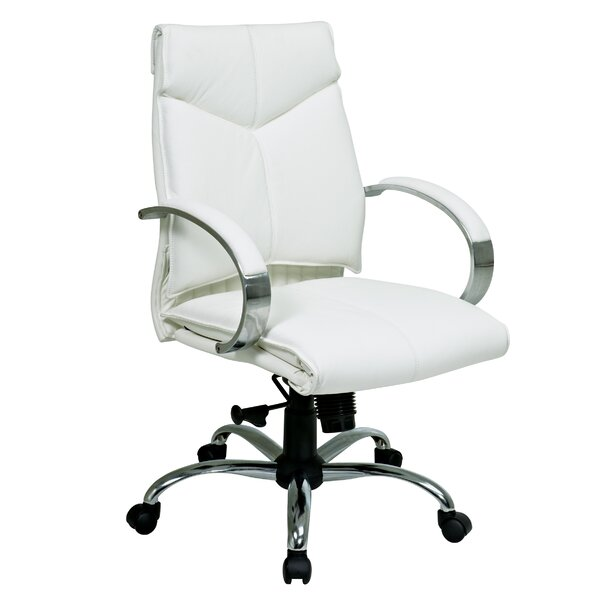 Deluxe Mid-Back Leather Desk Chair by Office Star Products