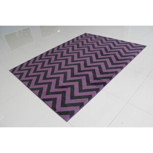 Gabaldon Purple/Black Area Rug By Ebern Designs
