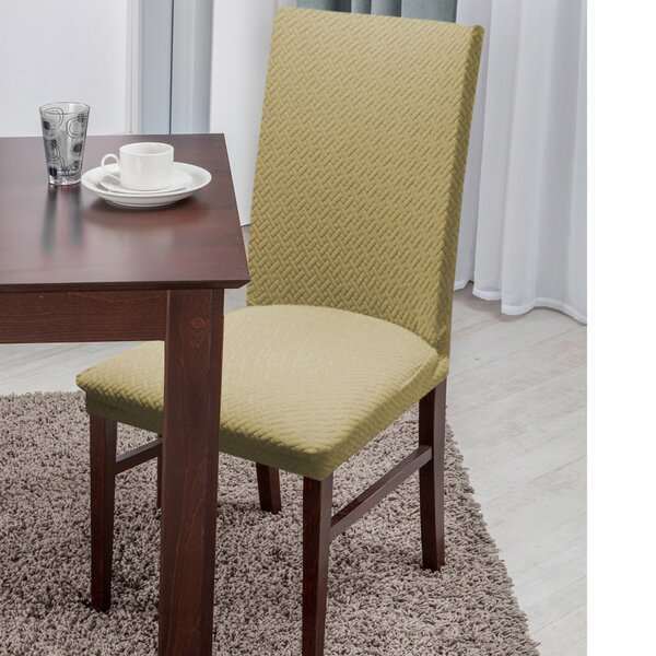 Basket Weave Texture Polyester Dining Chair Slipcover by Symple Stuff