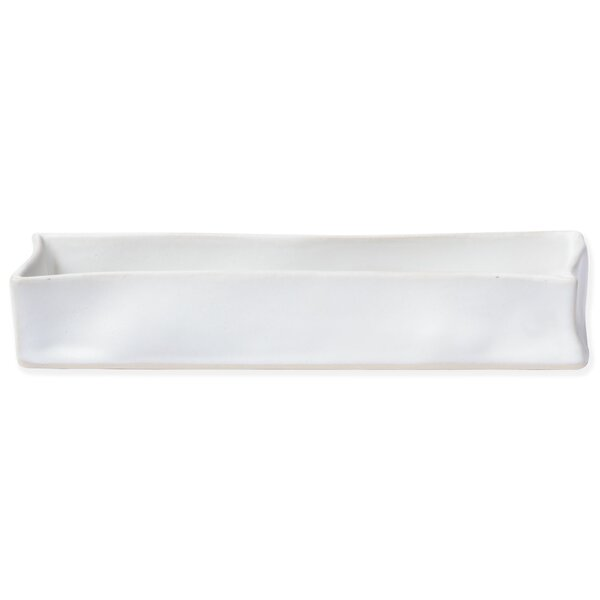 Bath Essentials Matte Rectangular Bathroom Accessory Tray by VIETRI