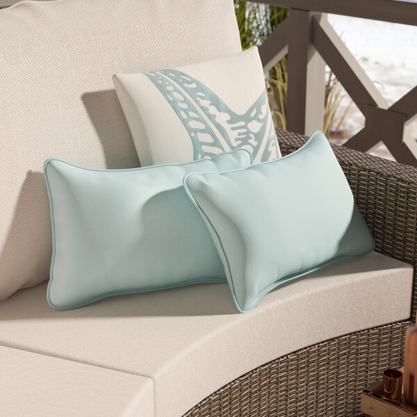 Colville Rectangular Indoor/Outdoor Lumbar Pillow Set (Set of 2) by Rosecliff Heights