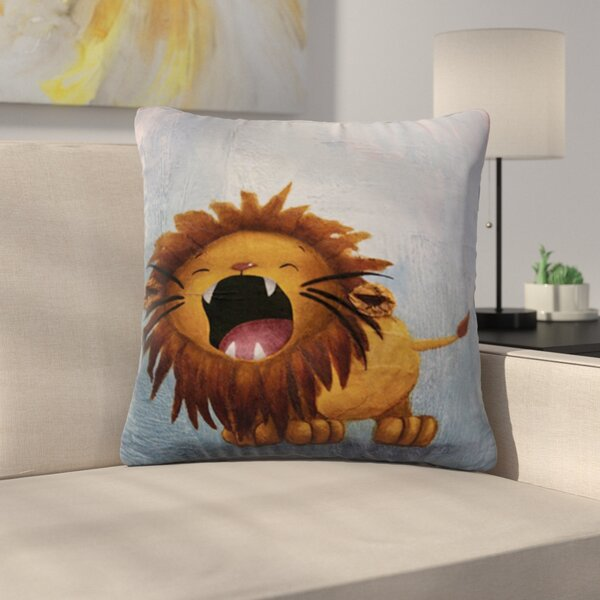 Dandy Lion by Rachel Kokko Outdoor Throw Pillow by East Urban Home