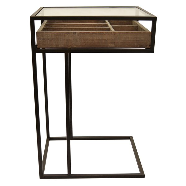 Berube Metal / Wood End Table by Williston Forge