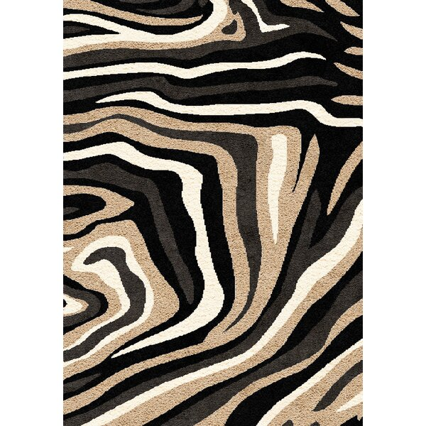 Aldovin Beige/Black Area Rug by Bloomsbury Market