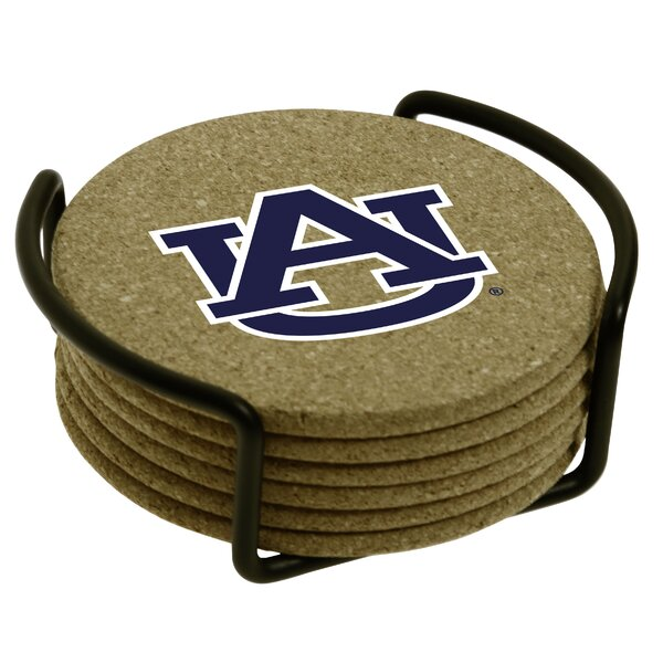 7 Piece Auburn University Cork Collegiate Coaster Gift Set by Thirstystone