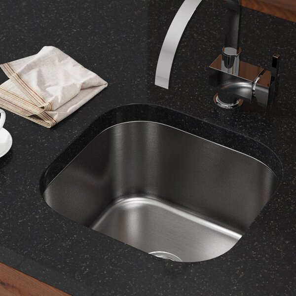 Stainless Steel 17 x 16 Undermount Bar Sink by MR Direct