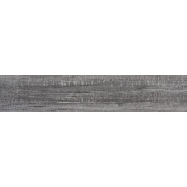 Belmond Mercury 8 x 40 Ceramic Wood Look Tile in Gray by MSI
