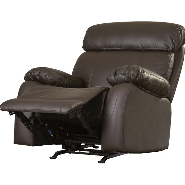 Franciscan Leather Manual Glider Recliner by Red Barrel Studio