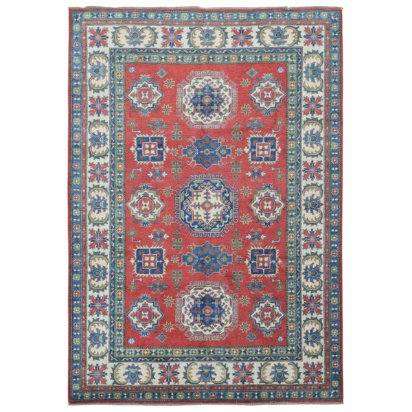 One-of-a-Kind Allenville Oriental Hand-Knotted Wool Red/Blue Area Rug by Isabelline