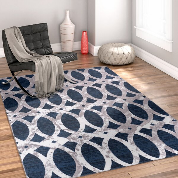 Ruark Blue Area Rug by Wrought Studio