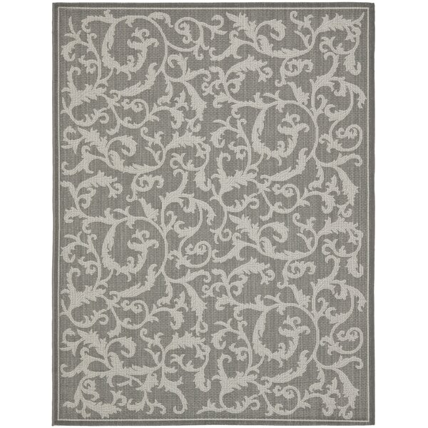 Gulf Anthracite Gray Indoor/Outdoor Area Rug by Fleur De Lis Living