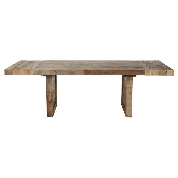 Abbey Extendable Solid Wood Dining Table by Mistana