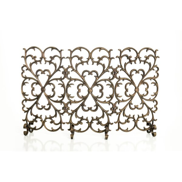 Scroll 3 Panel Iron Fireplace Screen By Ornamental Designs