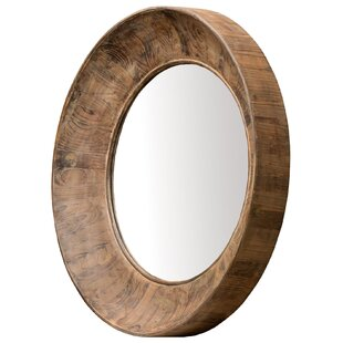 Union Rustic Round Brown Accent Wall Mirror