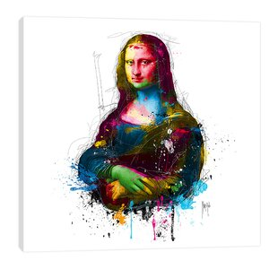 Da Vinci Pop by Patrice Murciano Graphic Art on Wrapped Canvas by Jaxson Rea