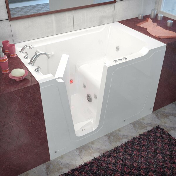 Crescendo 59.7 x 35.8 Whirlpool Jetted Bathtub by Therapeutic Tubs