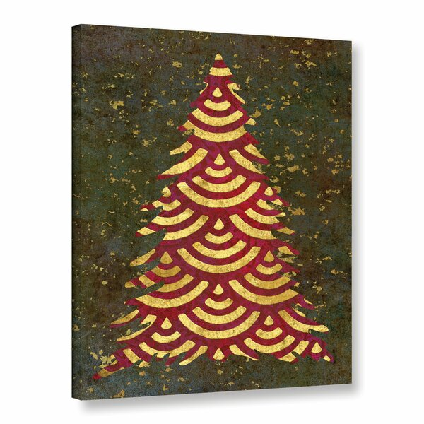 Xmas Tree Garland Graphic Art on Wrapped Canvas by The Holiday Aisle
